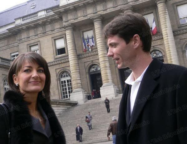 Raphaël Maillant et Maître Noachovitch devant le Palais de Justice de Paris en 2006