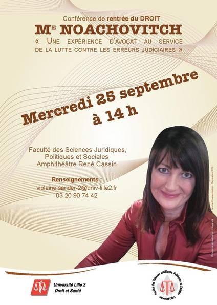 Conférence Lille2 25 septembre 2013